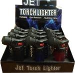 12 Pack Jet Flame Butane Refillable Windproof Torch Lighter