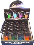 20 Pack 45 Degree Angle Jet Flame Butane Refillable Windproof Torch Lighter
